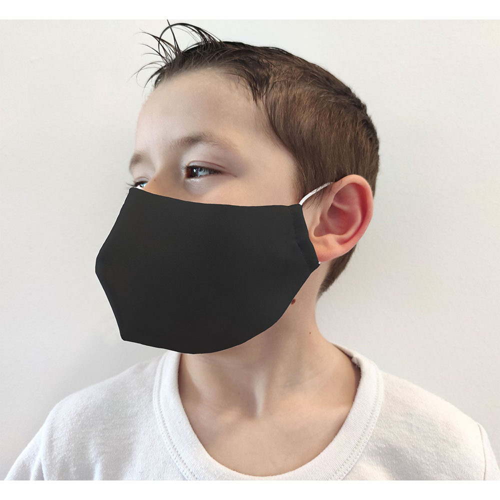Mascarilla higiénica neopreno infantil - negro