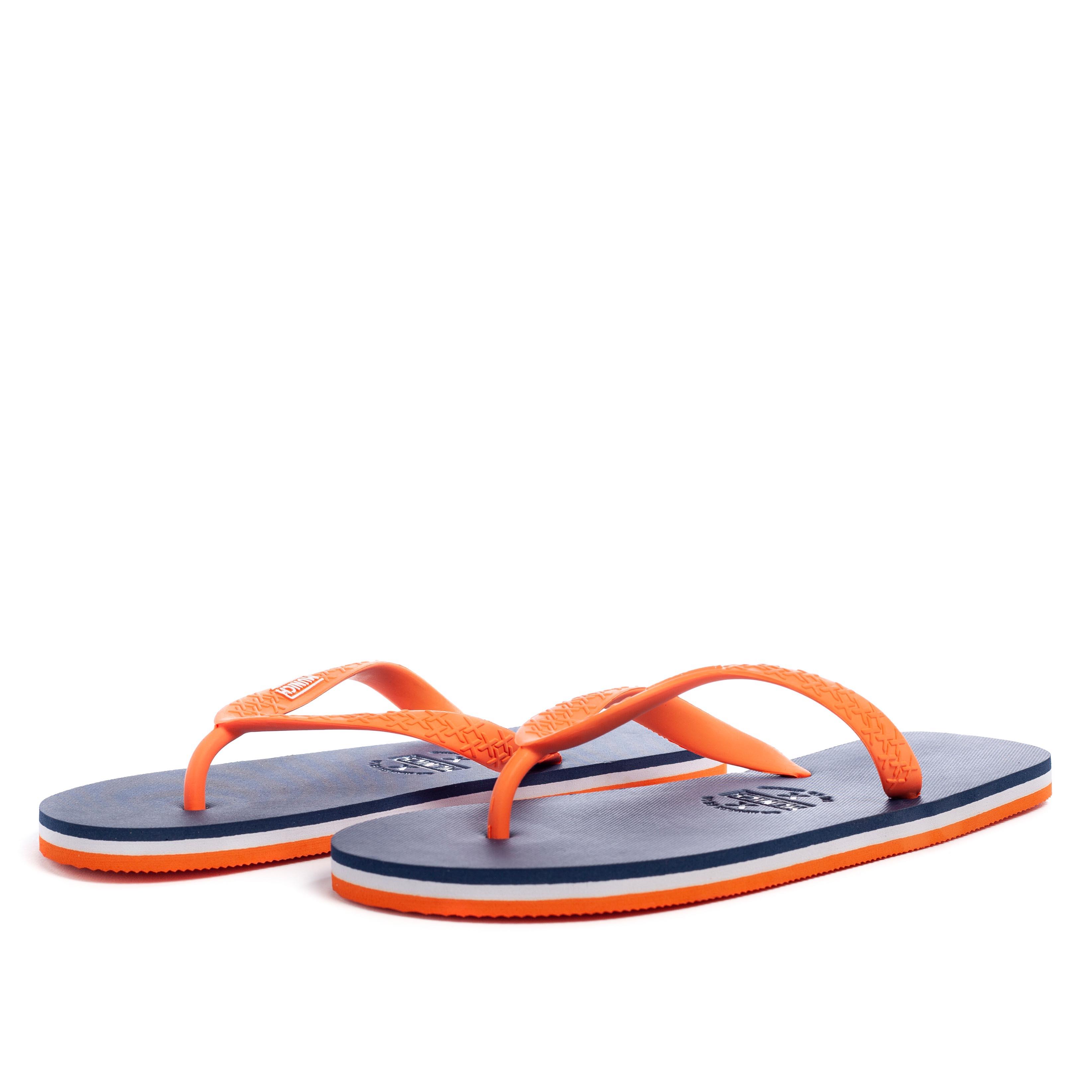 Chancla mujer - naranja/azul