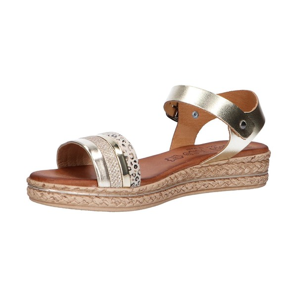 Sandalia piel mujer - dorado