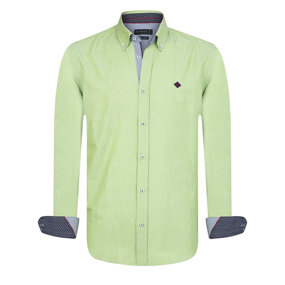 Camisa m/larga hombre - verde