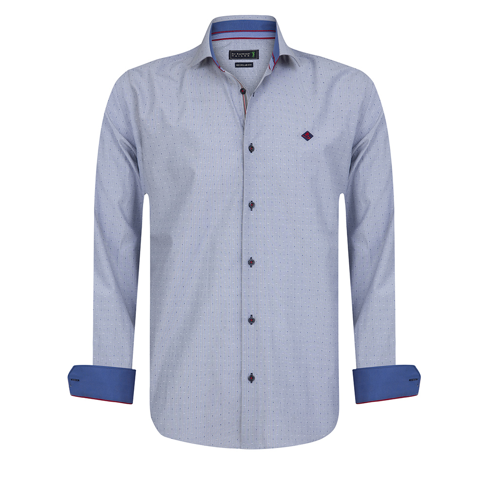 Camisa m/larga hombre - marino
