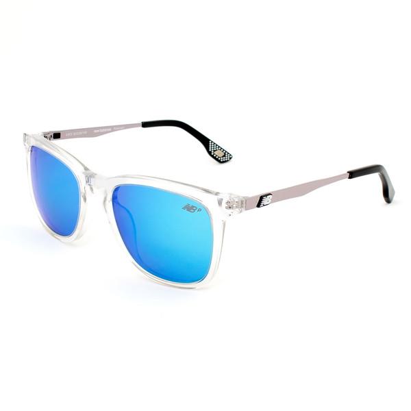 Gafas de sol unisex polarizadas - transparente/oro rosa