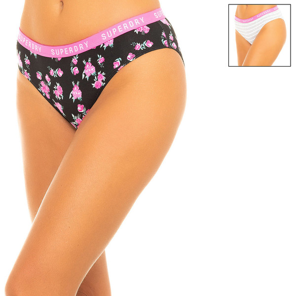 Pack 2 bragas mujer - gris/negro/rosa