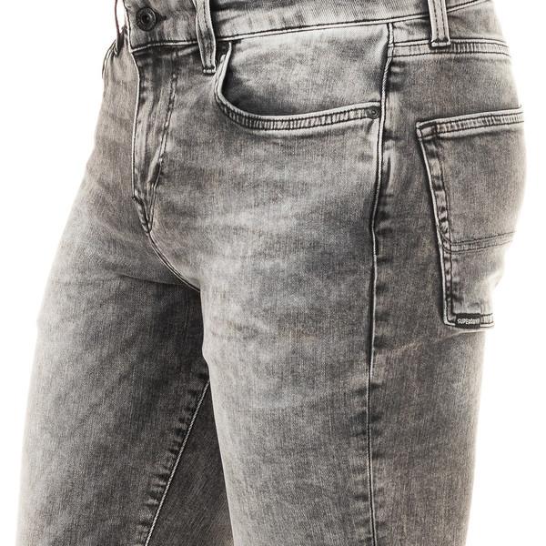 Pantalón tejano elástico hombre - gris