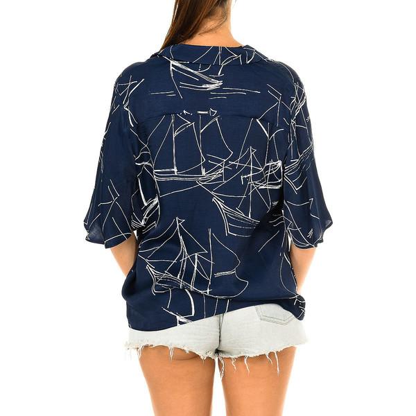 Blusa m/corta - azul