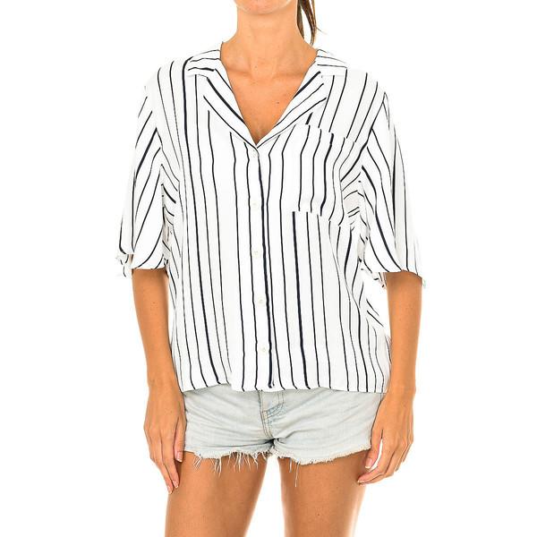 Blusa m/corta - blanco/negro
