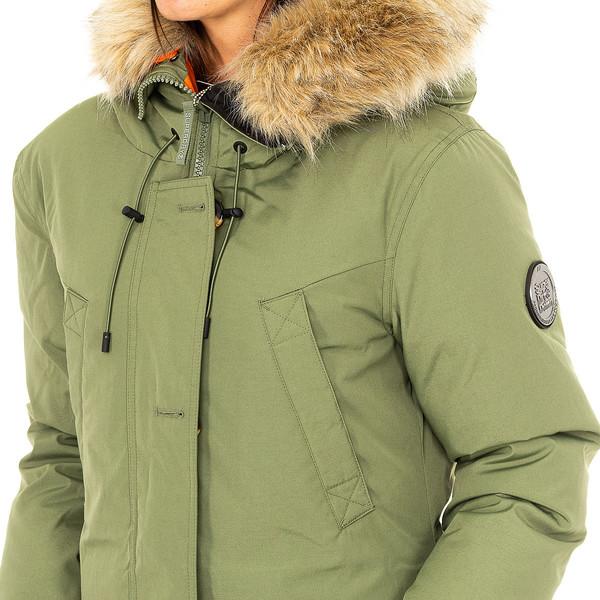 Abrigo largo mujer - verde