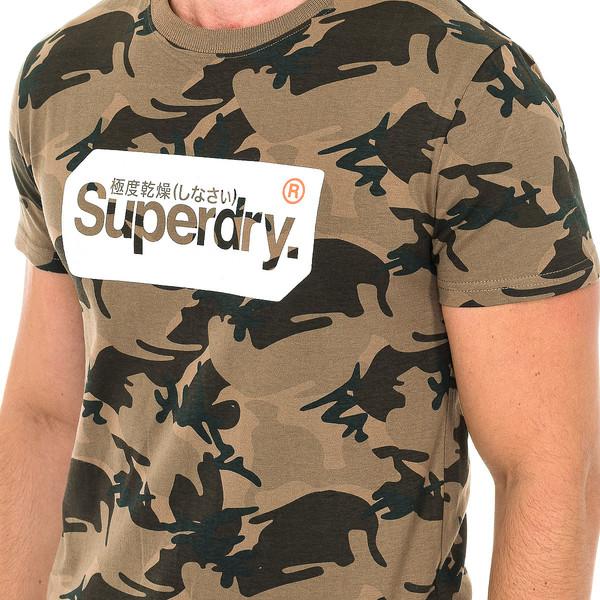 Camiseta m/corta hombre - marrón camuflaje