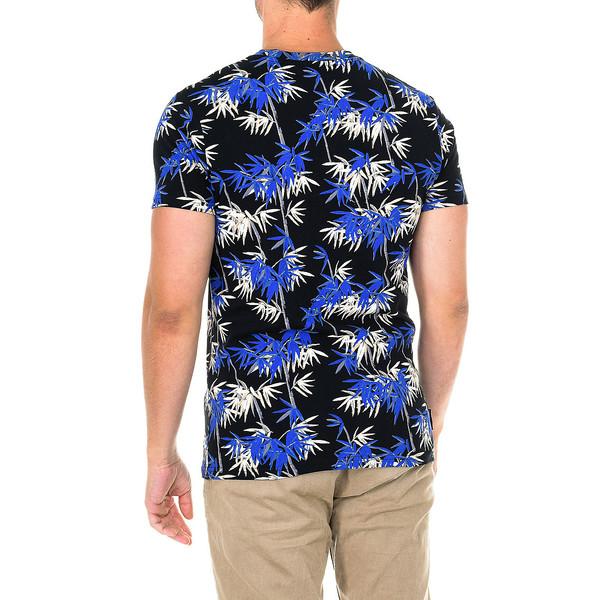Camiseta m/corta hombre - negro/azul/beige