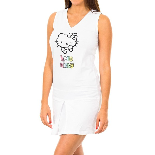 Vestidos sin mangas Hello Kitty Mujer - Blanco