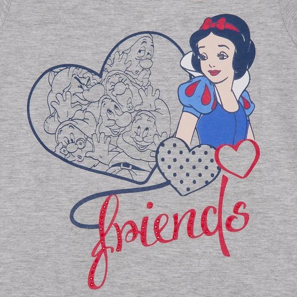 Camiseta m/Corta Principesse Niña - Gris