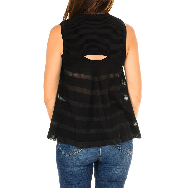 Camiseta s/mangas mujer - negro