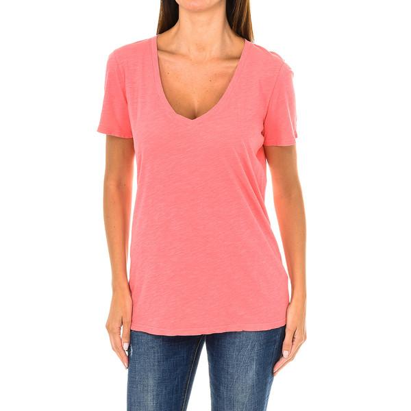 Camiseta m/corta mujer - coral