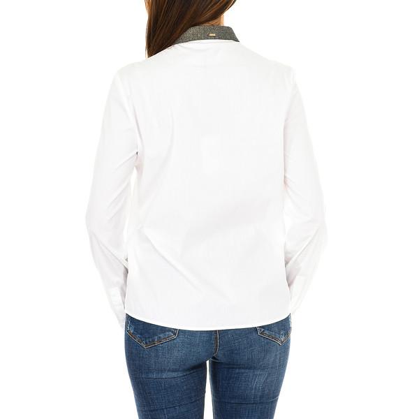 Camisa m/larga mujer - blanco