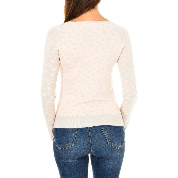 Jersey m/larga mujer - beige/rosa