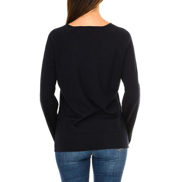 Jersey m/larga mujer - azul marino