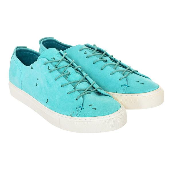 Sneaker hombre piel - verde
