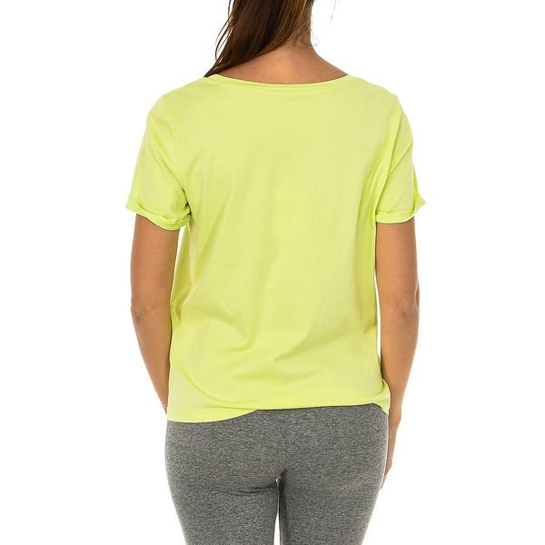 Camiseta m/corta mujer - amarillo flúor