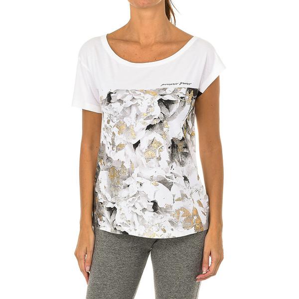 Camiseta m/corta mujer - blanco estampado