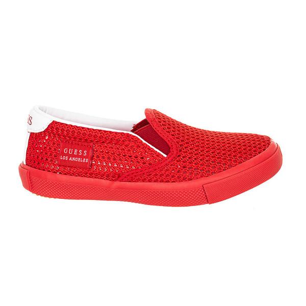Zapatilla sin cordones - rojo