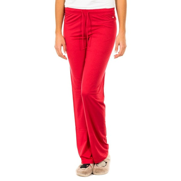 Pantalón largo de pijama mujer - rojo