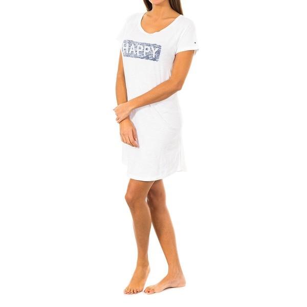 Camisón m/corta mujer - blanco