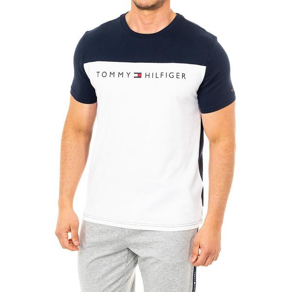 Camiseta m/corta hombre - azul/blanco