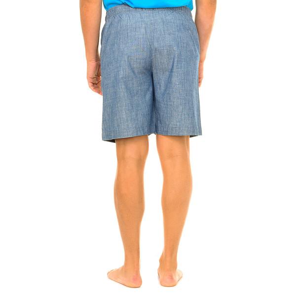 Pantalón corto hombre - azul denim