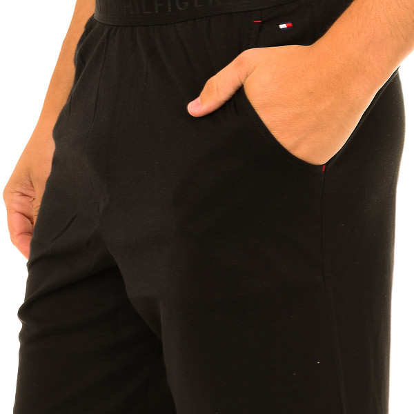 Pantalón corto de pijama hombre - negro