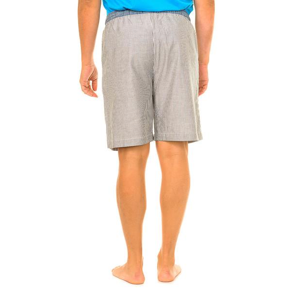 Pantalón corto de pijama hombre - azul