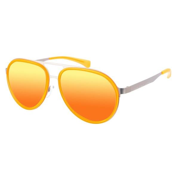 Gafas de sol unisex - plateado/naranja