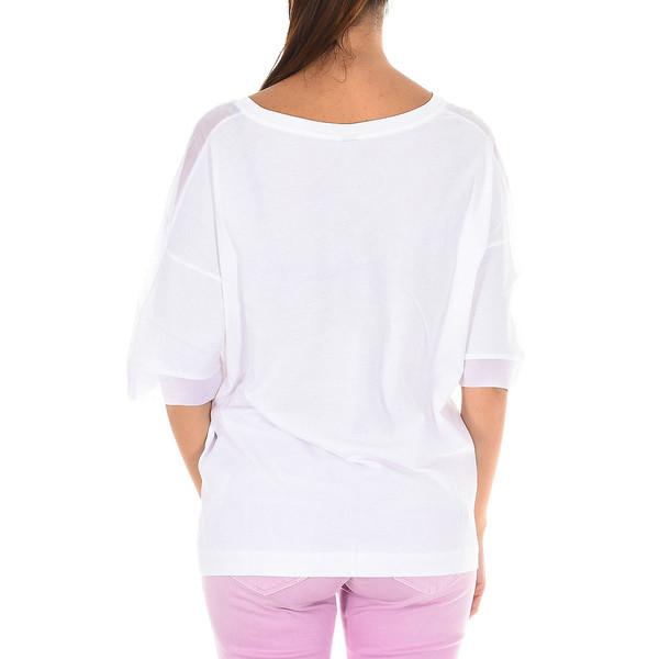 Camiseta de manga corta mujer - blanco