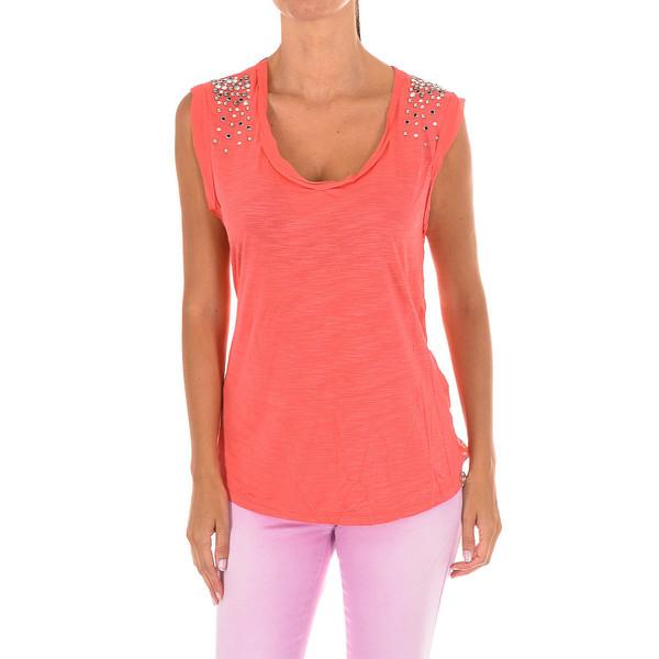 Camiseta s/mangas mujer - coral