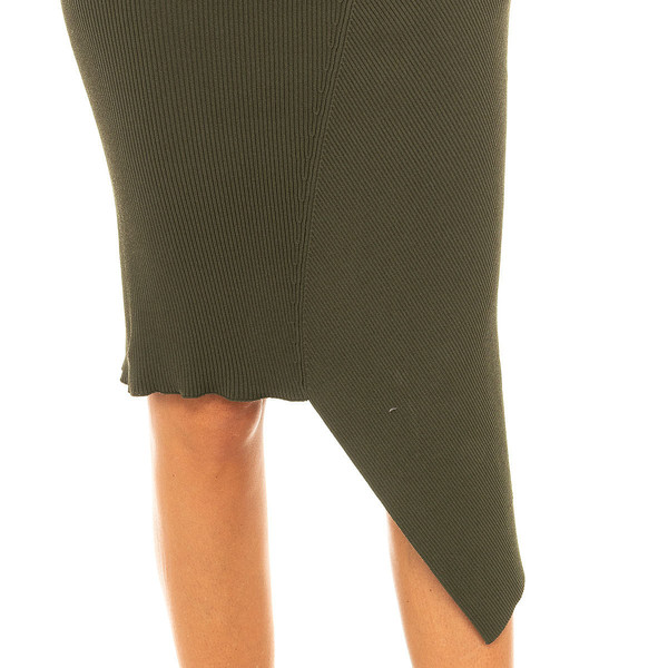 Falda asimétrica mujer - verde
