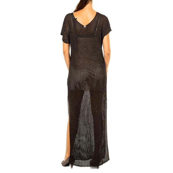Vestido de punto mujer - negro