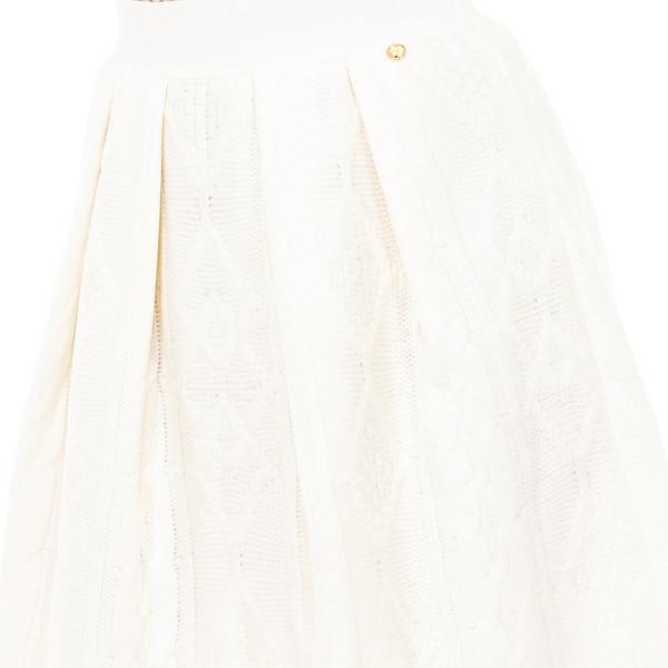 Falda asimétrica mujer - blanco