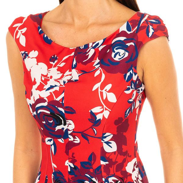 Vestido mujer - rojo-multicolor