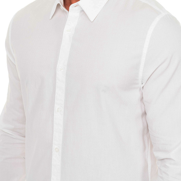 Camisa m/larga hombre - blanco