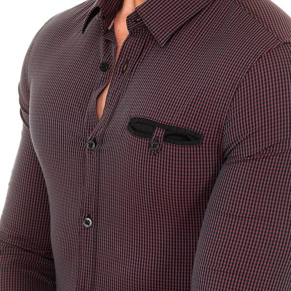 Camisa m/larga hombre - marrón