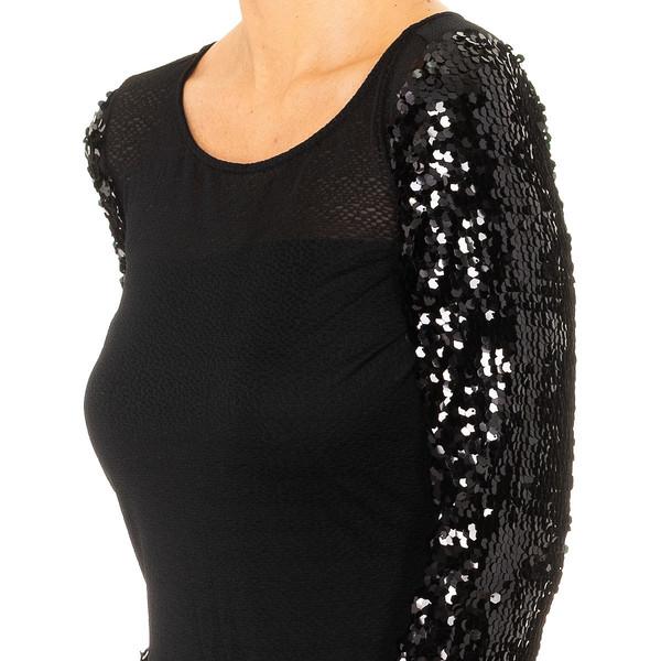 Vestido largo mujer - negro