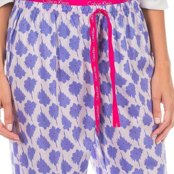 Pantalón largo mujer - fucsia/floral lila