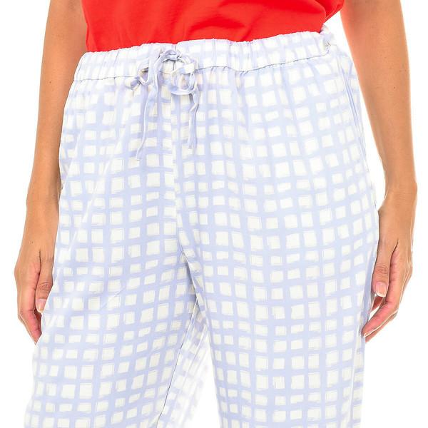 Pantalón largo mujer - morado/crudo