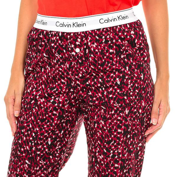 Pantalón largo mujer - rojo/negro