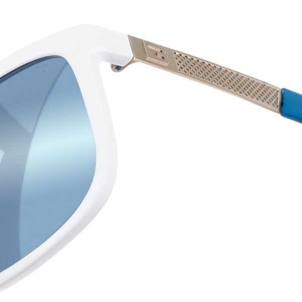 Gafas sol hombre - blanco/azul mate