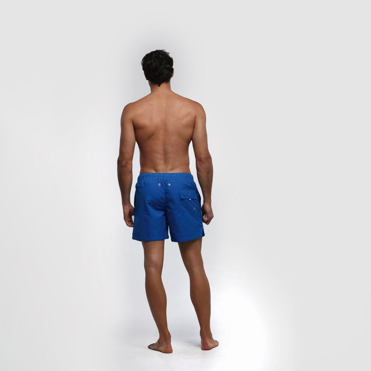 Bañador corto hombre - azul