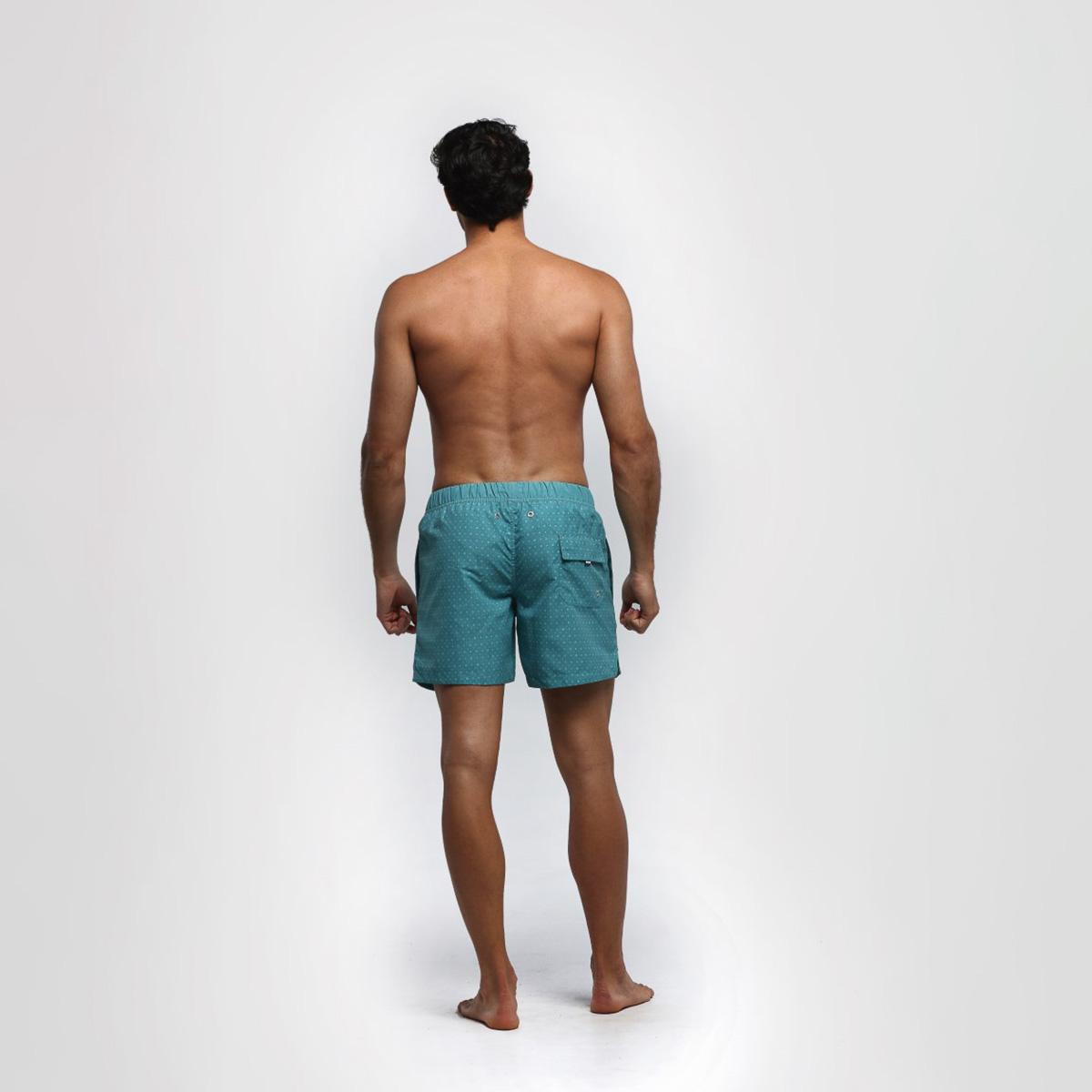 Bañador corto hombre - verde