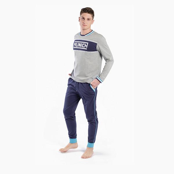 Pijama m/larga hombre - gris