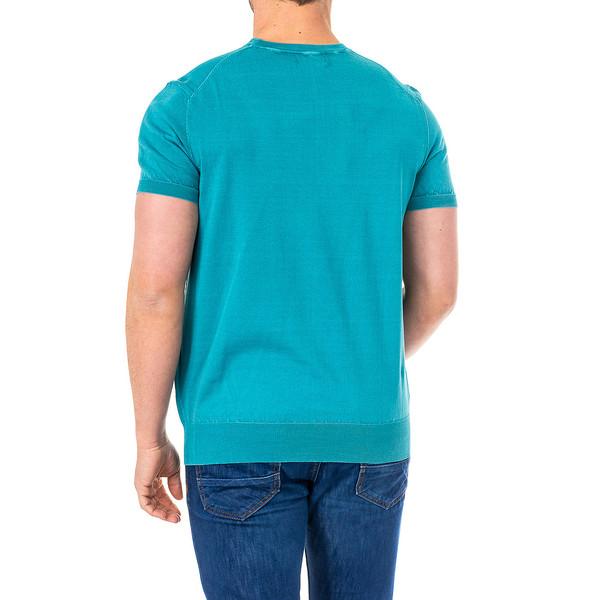 Camiseta m/corta hombre - verde/turquesa