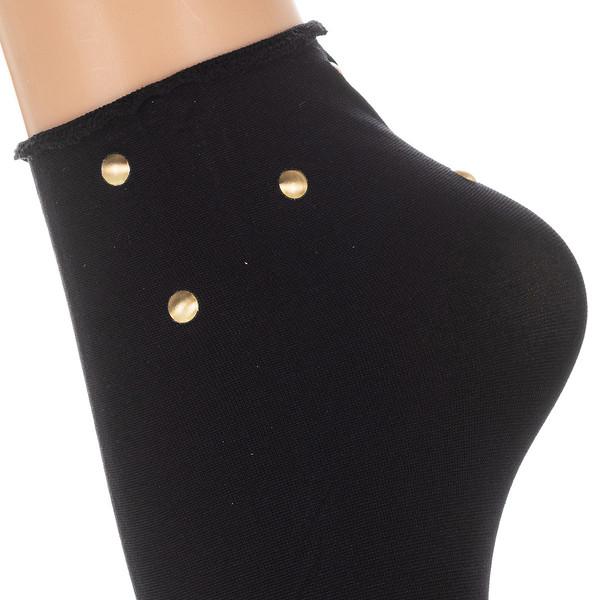 Calcetines cortos mujer - negro