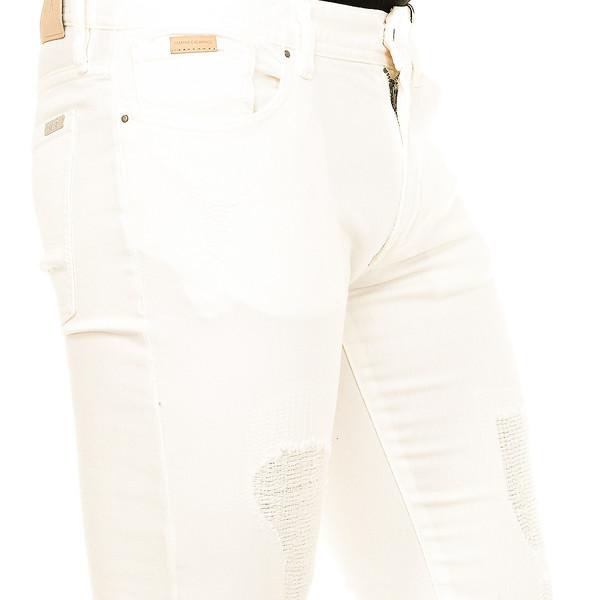 Pantalón tejano hombre - blanco